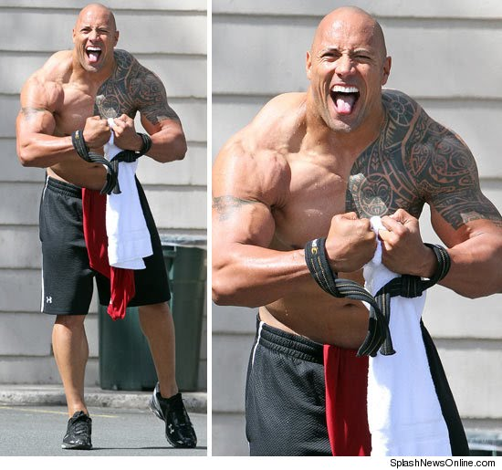 the rock con su nueva masa muscular splashnewsonline com